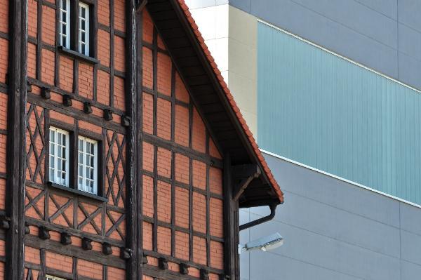 Fachwerkhaus aus Backsteinen