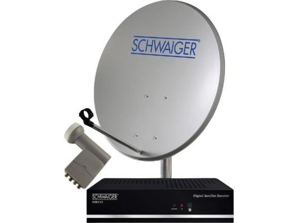 Sat-Anlage-4TN-Stahl-Spiegel-80cm-Quad-LNB-Sat-Receiver-FTA