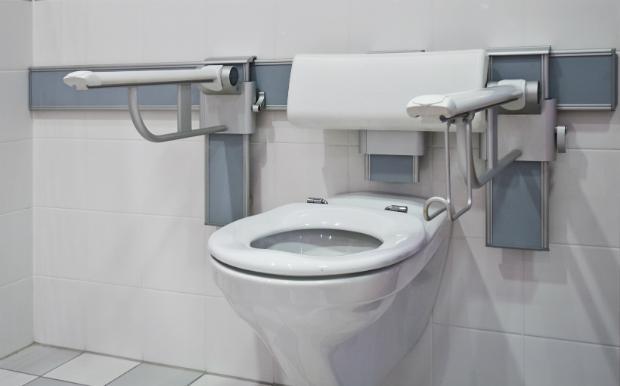 WC mit Stützhilfen