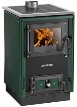 JUSTUS-Festbrennstoffherd-Rustico-50-2-0-gruen