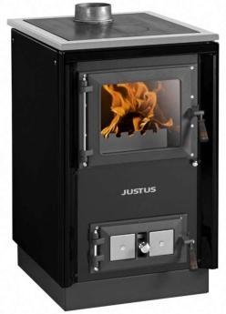 JUSTUS-Festbrennstoffherd-Rustico-50-2-0-schwarz