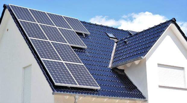Solarpanels für eine Photovoltaik-Anlage