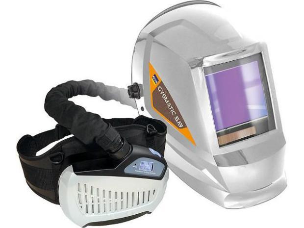 SCHWEISSSCHUTZHELM GYS LCD GYSMATIC 5/13 AIR XL MIT GEBLÄSEATEMSCHUTZ