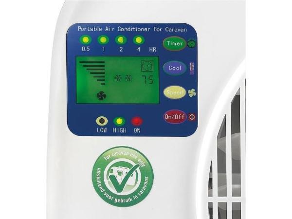 Wohnwagen-Split-Klimageraet-AC-2401-Caravan-696-Watt-LCD-Display-integrierte-Zeitschaltuhr