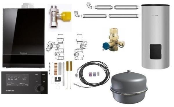 Buderus Logaplus Paket W50 E GB192i 19 kW schwarz ESU160 RC310