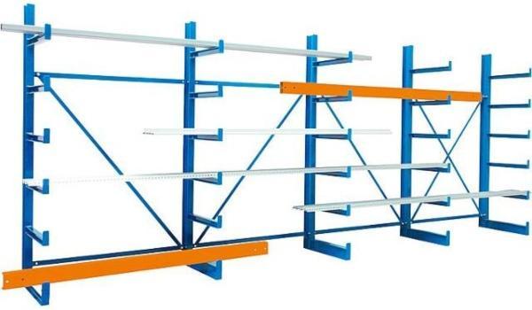 Kragarm-Grundregal-einseitig-mit-6-Ebenen-schwerlastregale-im-einsatz