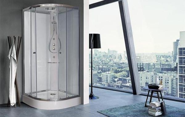 Komplettdusche-Shower-1-4-Kreis-900x900x2110mm-R-550-Thermotat-mischer-Hand-Kopf-Seitenbrause