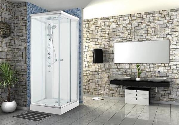 Komplettdusche-Shower-1000x1000x2110mm-Thermostatmisch-Hand-Kopf-Seitenbrause