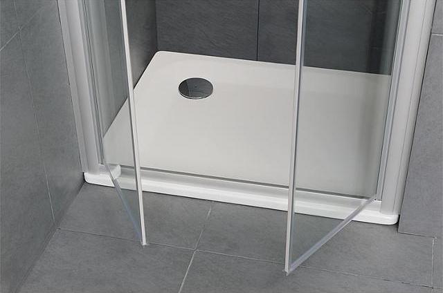 Duschwanne EDURA weiß, BxHxT:900x25x750mm Stahl-Emaille