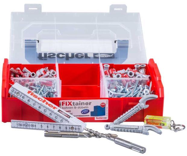 Fischer 547166 FIXtainer - bohren und dübeln + Extras