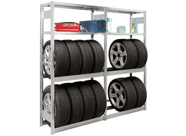 Garagengrundregal-steckbar-4Fachebenen-Feldlast-2000Kg-2000x1005x400mm-ordnungssystem-in-der-garage