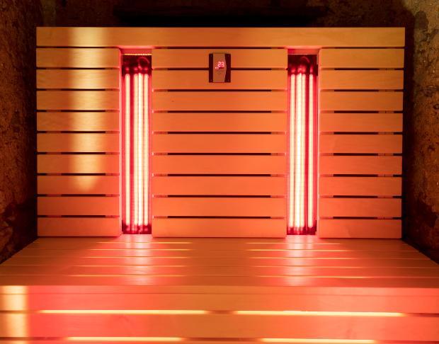 Sauna oder Infrarotkabine - die Infrarotkabine ist schnell aufgeheizt, spart somit Kosten