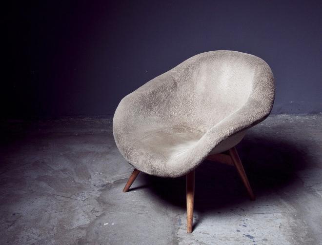 Sessel aus Beton
