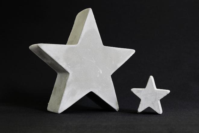Sterne aus Beton