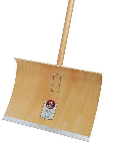 Ideal-Schneeräumer Sperrholz, 50cm breit,Hartholz- stiel