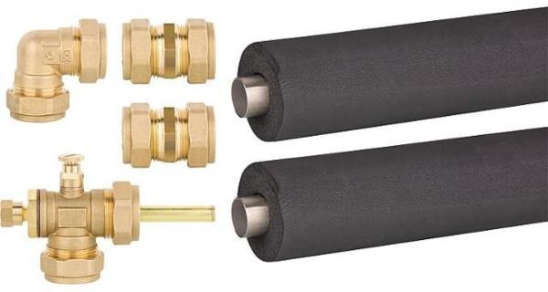 Kollektoren-Verbindungsset-Grundset-fuer-2-Kollektoren-mit-Dacheinfuehrung-isoliert-22mm