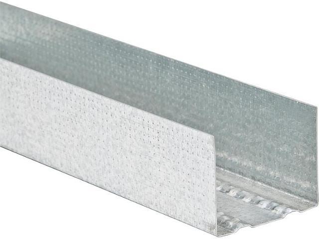 Wandprofil UW,verzinkt, nach DIN Norm, L=4000x75x0,6mm, 8 Profile a 4m
