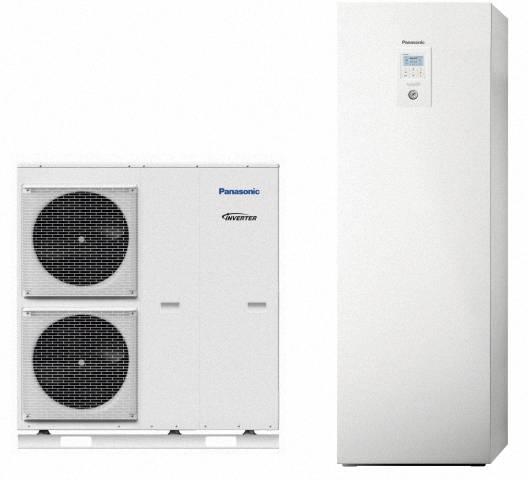 Panasonic Wärmepumpen-Paket, Luft-Wasser, Aquarea T-CAP SuperQuiet und Kombi-Hydromodul, 9,0kW, KIT