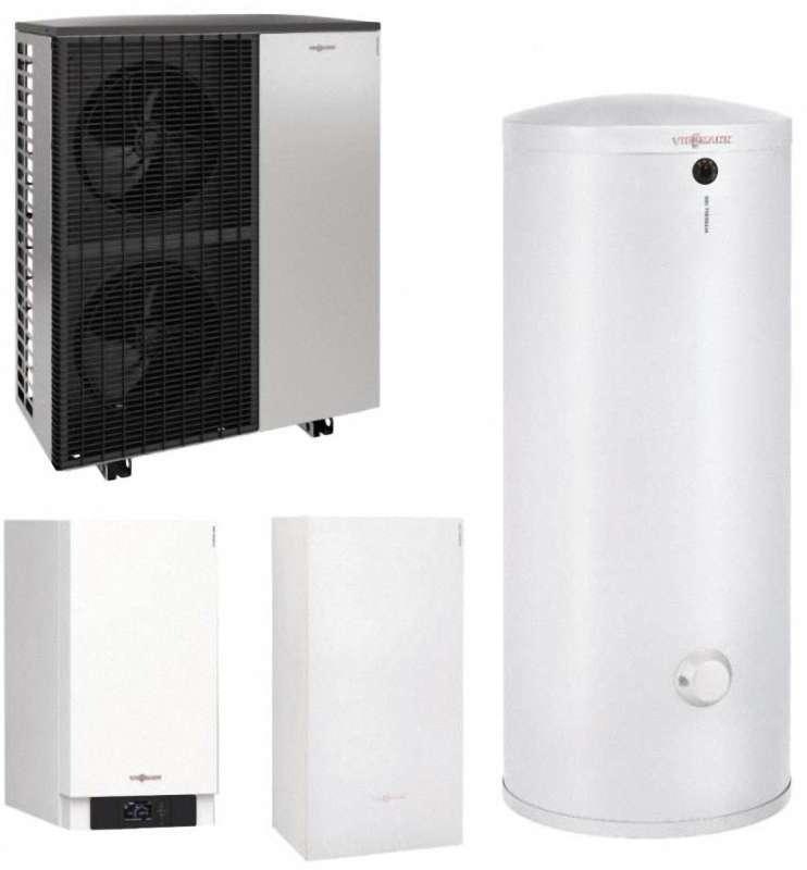 VIESSMANN Wärmepumpenpaket Vitocal 200-S, Typ AWB-(M)-E-AC 201.D mit Vitocell 100-W, Vitocell 100-E