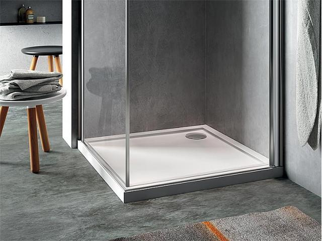 Brausewanne EVREN quadratisch - Dusche einbauen und abdichten