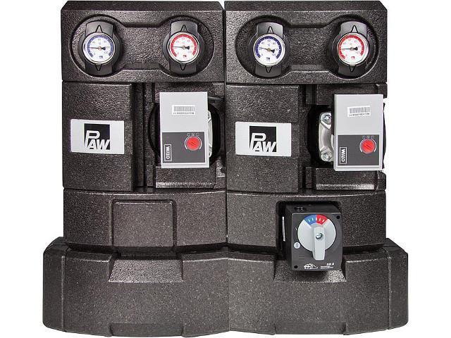 PAW Modulverteilergruppe DM 25 1x gemischt 1x ungemischt 2x Wilo Yonos Para RS 25/6