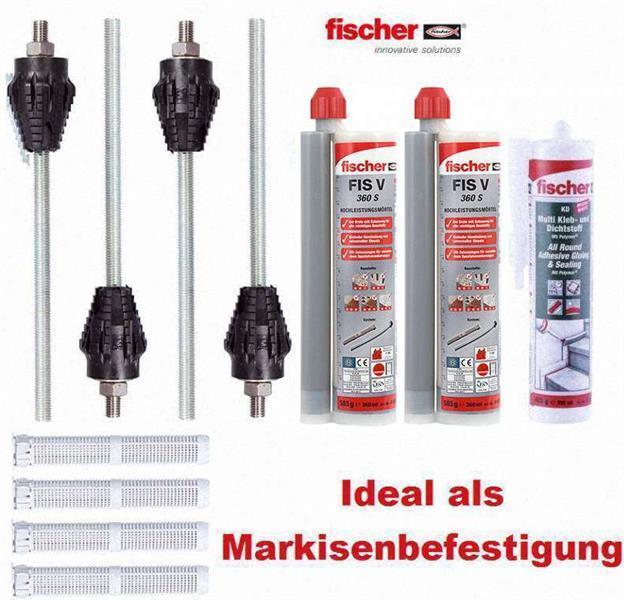 Fischer Hochleistungsmörtel FIS V FIS V 360 S und Kleb- Dichtmasse M12 12/110