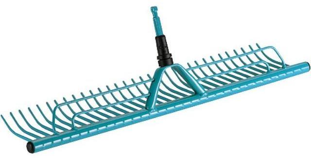 GARDENA Combisystem-Rasenrechen 73cm breit mit Grasfangvorrichtung