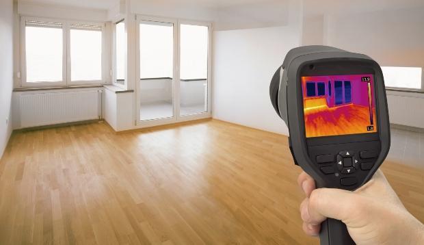 Analyse mit Wärmebildkamera - Wohnraumklima verbessern