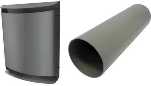 Buderus LRE160B, Lüfter-Rohbauset, Metall-Außenhaube, pulverbeschichtet anthrazit - sorgt für gute Luft