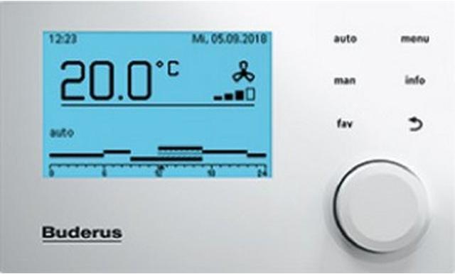 Buderus VC310, Komfort-Bedieneinheit - so kann gute Luft erreicht werden
