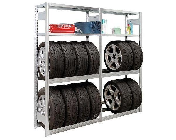 Garagengrundregal steckbar, 4Fachebenen,Feldlast 2000Kg, 2000x1005x400mm Garage als Werkstatt