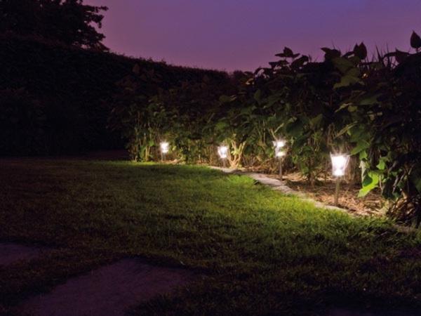 3-in-1 Solar-Außenleuchten - 4-tlg. CSOL17 Solarleuchten für den Garten