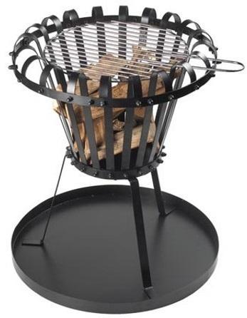 Feuerkorb mit Platte - Rund BB650 Feuerschale zum Kochen und Grillen