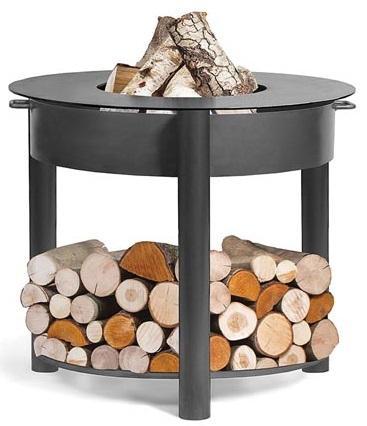 Feuerschale mit Kochplatte und Deckel - Ø 80 cm Feuerschale zum Kochen und Grillen