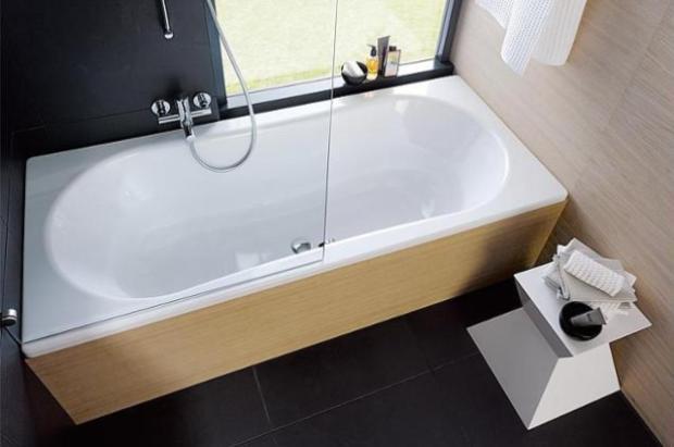 Badewanne Elfrun BxHxT 1800x800x420mm Stahl-Emaille 3mm, 240 Liter Stahlemaille im Badezimmer
