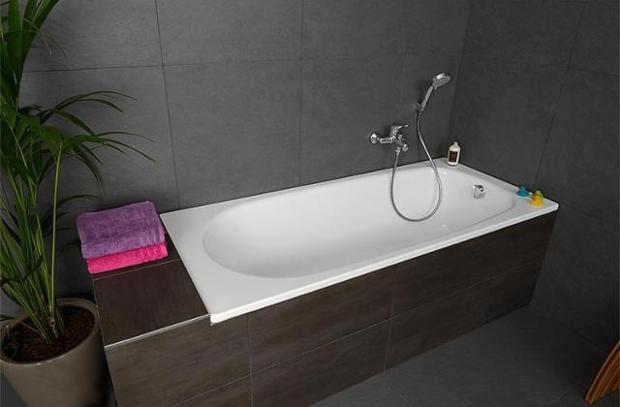 Badewanne VERONA, BxHxT 1600x410x700mm Stahl-Emaille Stahlemaille im Badezimmer