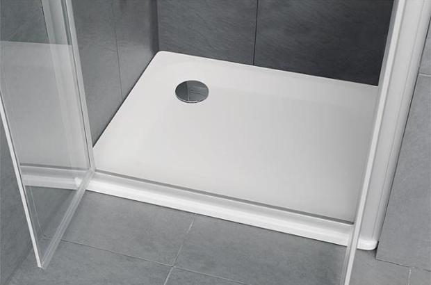 Duschwanne EDURA weiß, BxHxT 900x40x750mm Stahl-Emaille Stahlemaille im Badezimmer