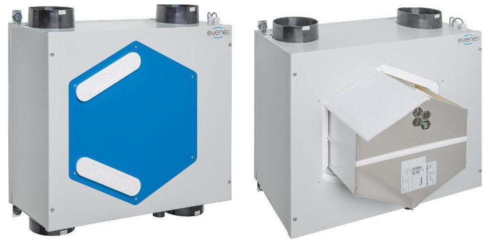 KWL EVENES HRV 20 3-stufig bis 200m³/h, Wand- und Deckenmontage Kellerlüfter gegen Feuchtigkeit