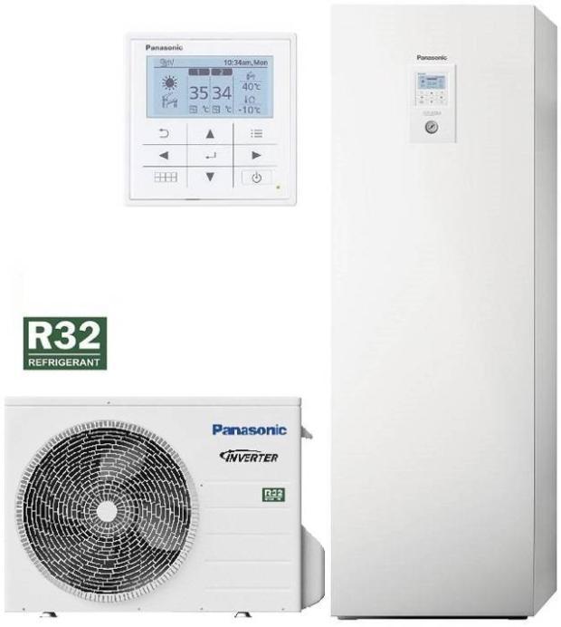 Panasonic Aquarea LT Wärmepumpe Split mit Kompakt-Kombi-Hydromodul, 5,0kW, 230V, KIT-ADC05JE5C