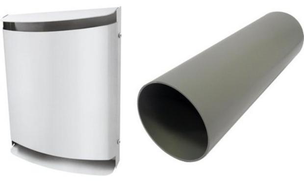Buderus LRE160W, Lüfter-Rohbauset, Metall-Außenhaube pulverbeschichtet weiß, 7735600373