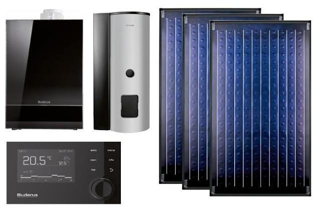 Buderus 7739606948 LOGASYS Systemlösung SL 120 mit GB192-15i und 3x SKN4.0-s, weiß