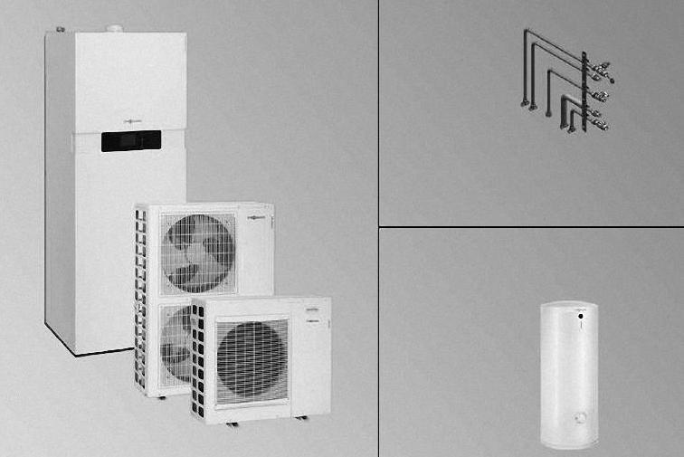 VIESSMANN Split Gas-Hybrid-Kompaktgerät Vitocaldens 222-F, 1,3 - 19 kW - Pakete - Heizungsmodernisierung