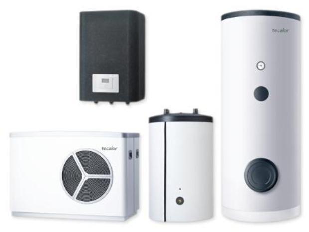 tecalor Luft/Wasser-Wärmepumpe, TTL 15 AS TSB/P eco Set