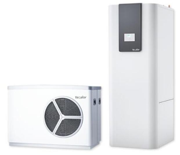 tecalor Luft/Wasser-Wärmepumpe TTL 25 A TSBC Set