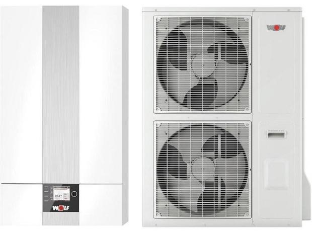 Wolf Wärmepumpe Luft-Wasser BWL-1S-10 in Splitbauweise, 400V, mit E-Heizelement Förderung für Lüftungsanlagen