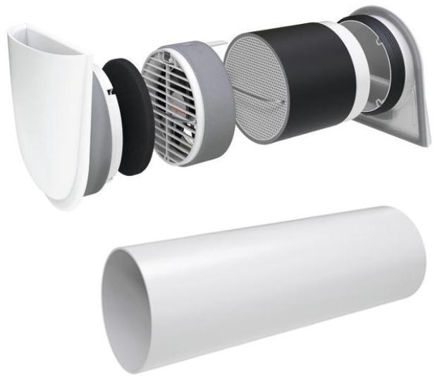 VIESSMANN Vitovent 100-D Set mit Wandhülse und Außenwandblende, Typ H00E A45