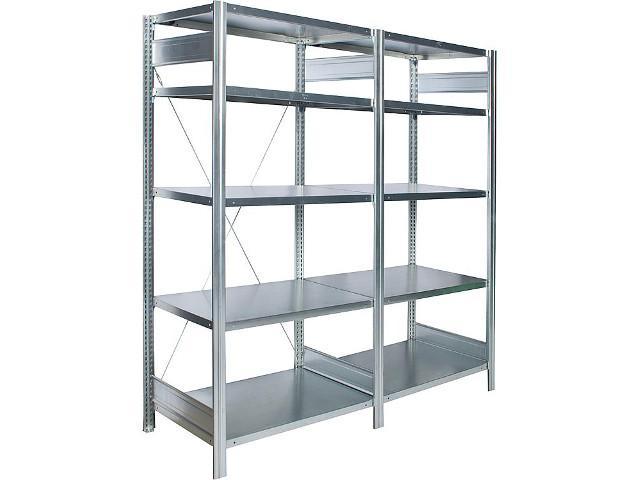 Anbauregal steckbar,5 Stahl- fachböden,Feldlast 2000Kg, 2000x875x500mm