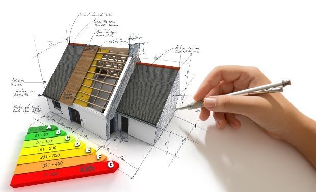 Konzept eines neuen Hauses in einer Grafik - so wird dir Wärmewende gestaltet
