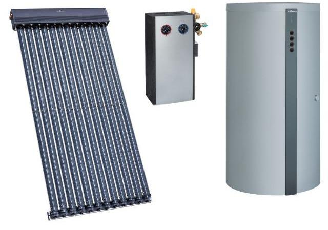 PAKET VITOSOL 300-TM mit Vakuum-Röhrenkollektoren
