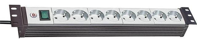 Brennenstuhl 1156057018 Mehrfachsteckdose Premium-Line mit Schalter, Kabellänge 3m